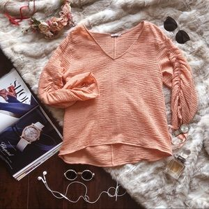 Zara Salmon Colored Blouse